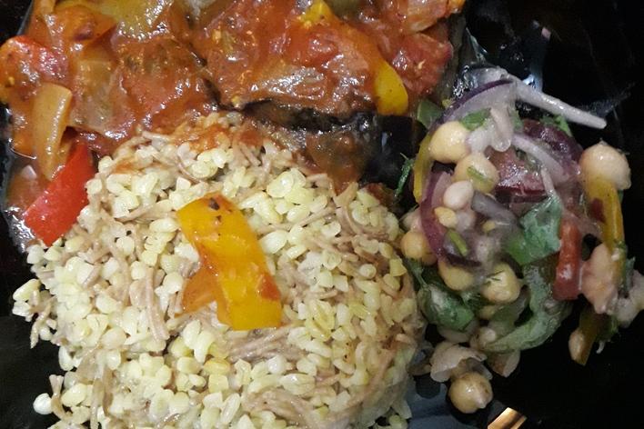 Cours de cuisine, repas sans gluten et végétarien