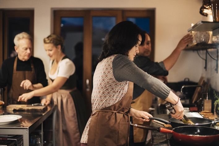 Bavarian schnitzel cooking class