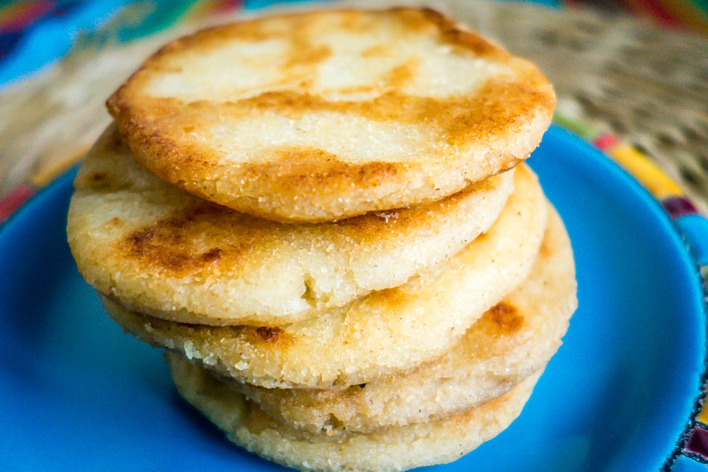 Arepa making dinner party