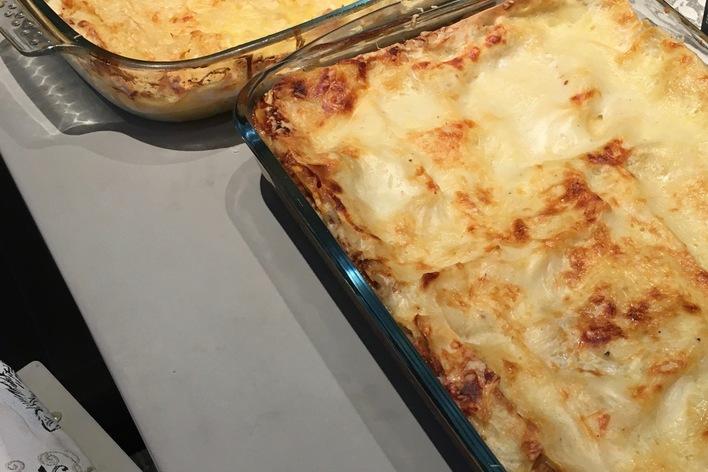 Lasagnes fromagères  et lasagnes traditionnelles