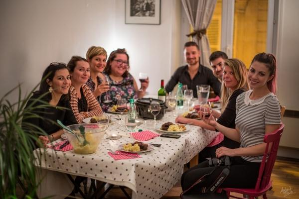 Un dîner français à montmartre - french dinner in montmartre !