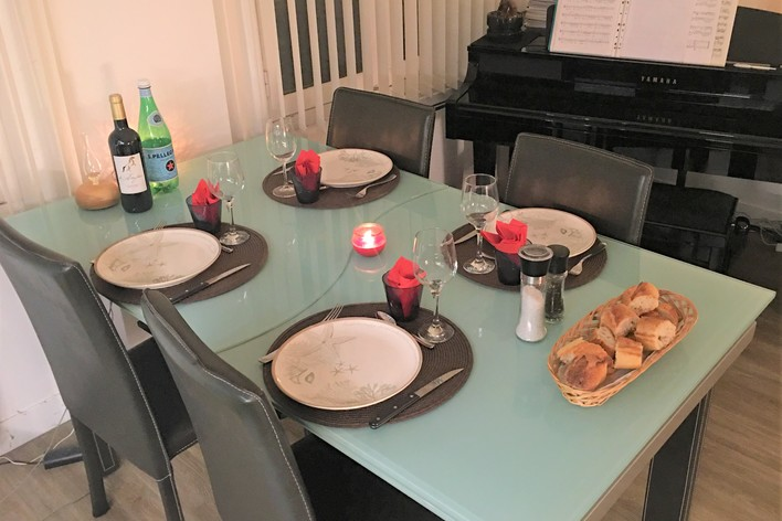 French dinner in paris center : south west gastronomy