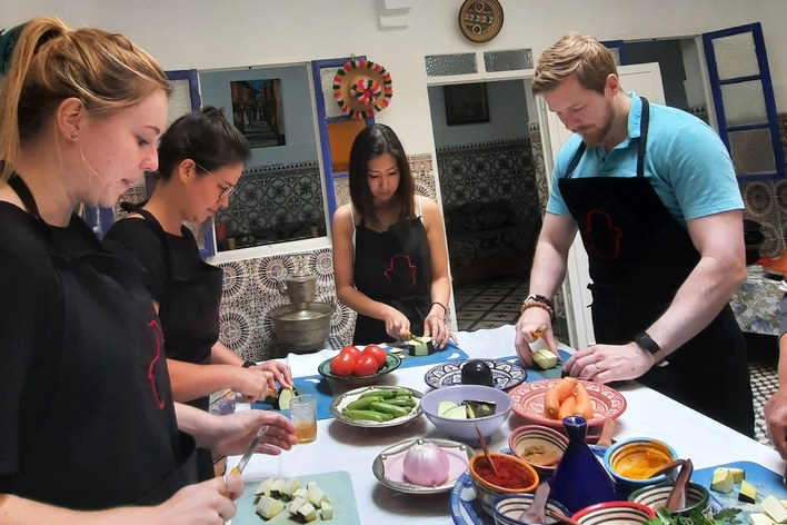 Moroccan cooking class like a local with chef khmisa