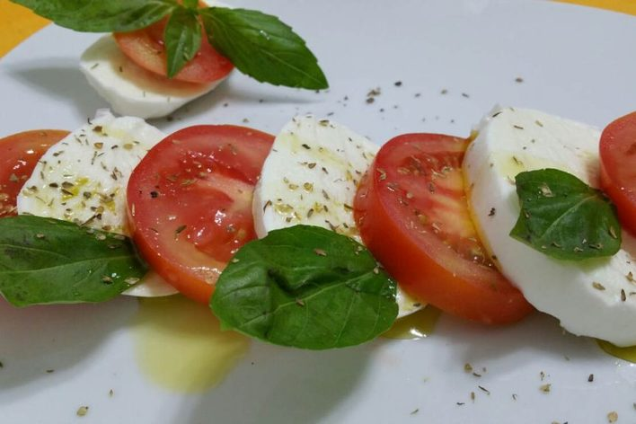 Traditional italian dinner