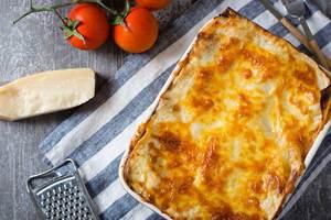 Cenas particulares como en su propia casa: Lasagnes fraîche a la bolognaise maison et choux a la vanille