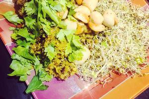 Manger chez l'habitant: Kasha grillé aux poireaux & lait de coco, noix de saint jacques au ghee