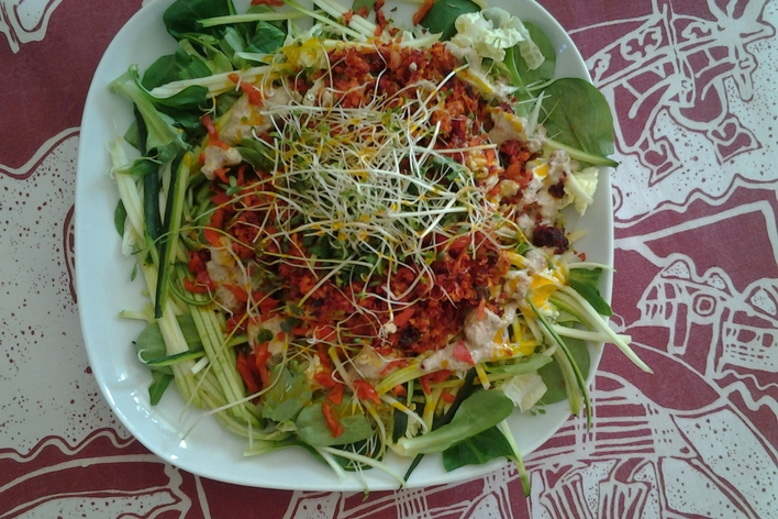 Crusine entre amis ,fully raw organic food,comida  organica cruda