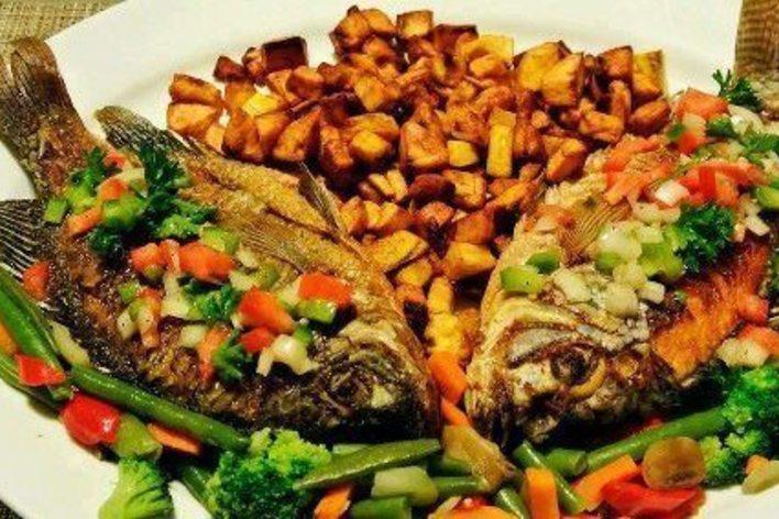 Dîner à la sénégalaise / tiéboudieune / poisson braisé