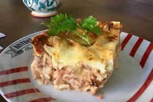 Cenas particulares como en su propia casa: Lasagnes fromagères  et lasagnes traditionnelles