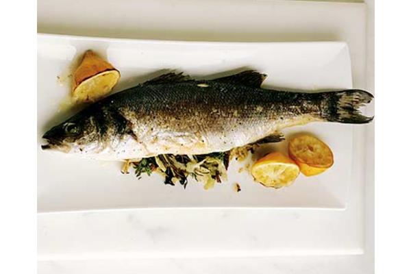 San francisco seafood with salad, rice, corn, etc.