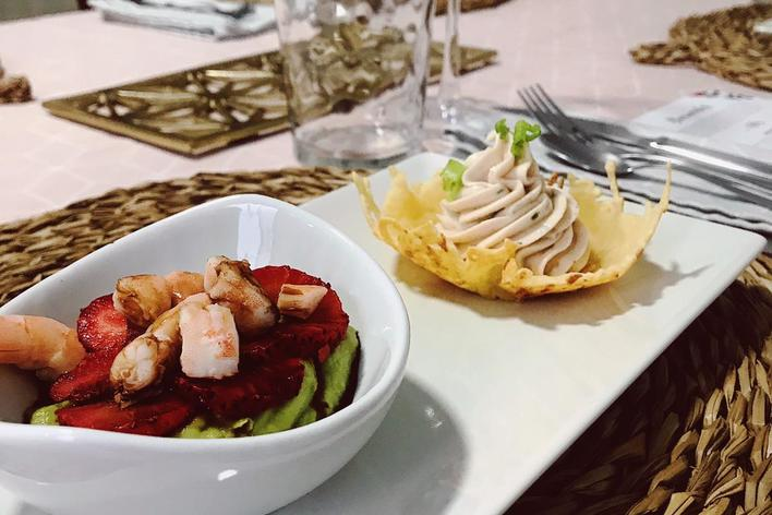 Seafood dinner: where italy meets bolivia