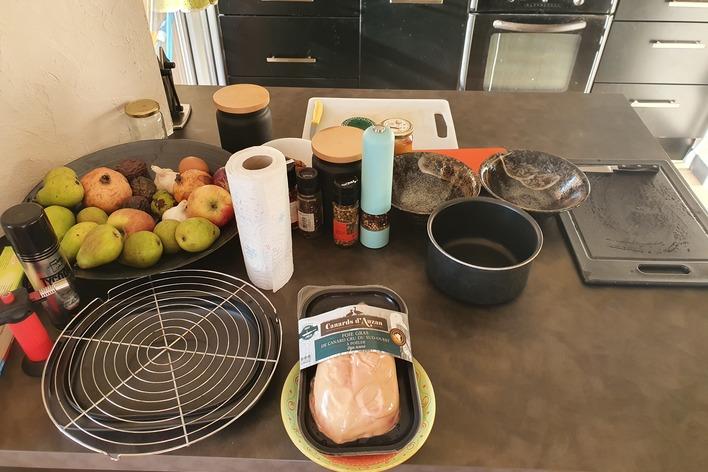 Atelier foie-gras mi cuit - chaque participant repart avec son foie-gras