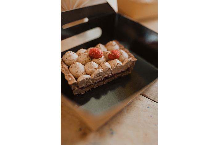 Risotto aux asperges et tarte choco framboise