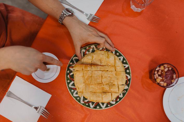 Traditional paella & tortilla & sangría
