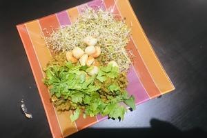 Eat with locals: Kasha grillé aux poireaux & lait de coco, noix de saint jacques au ghee